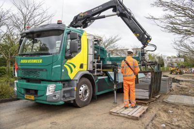 Eerste zware elektrische truck in GWW-sector
