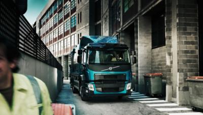 Vozidlo Volvo FE vám umožní hladký pohyb v miestach, ktoré boli doteraz nedostupné