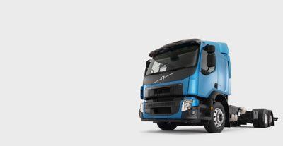 Volvo FE blue truck studio