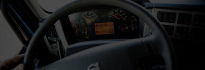 Volvo FE overview steering wheel