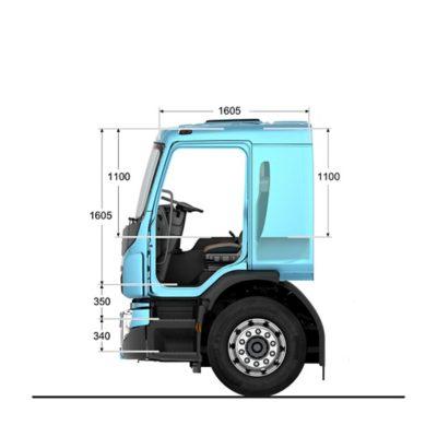 Cabine confort du VolvoFE avec couchette en option