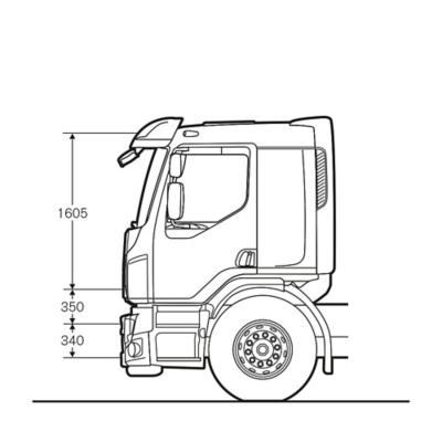 Volvo FE Komfort fülke opcionális ággyal
