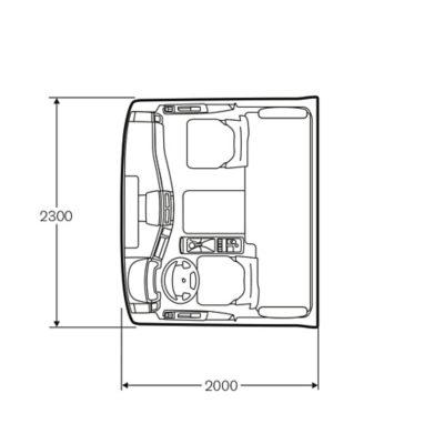 Volvo FE komforthytt med säng som tillval
