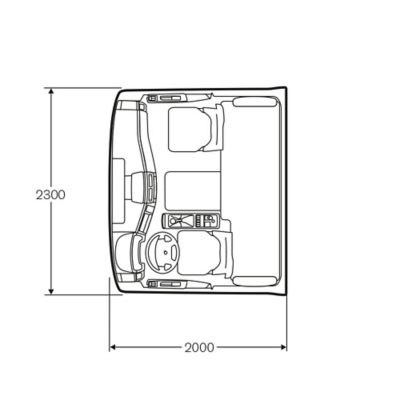 Volvo FE medium-førerhus med seng som tilbehør