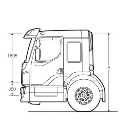 Volvo FE-førerhus med ekstra lav indstigning
