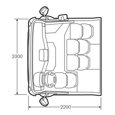 Cabine à accès bas du VolvoFE avec marchepied bas supplémentaire