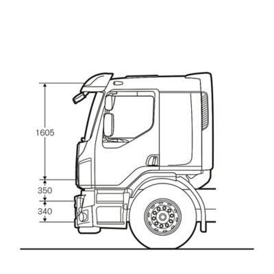 Volvo FE Fernverkehrsfahrerhaus mit Liege für eine Person