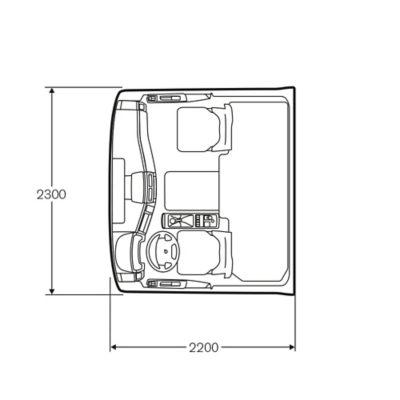 Volvo FE:n makuuohjaamossa on yhden hengen vuode