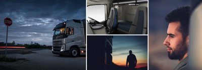 Life on the road with overnight stays in the Volvo FH is comfortable.