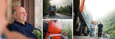 고객 도메니코 몬지는 품질과 성능 면에서 볼보트럭을 선호합니다.