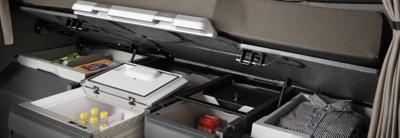 Cajas de almacenamiento interior en la cabina del Volvo FH