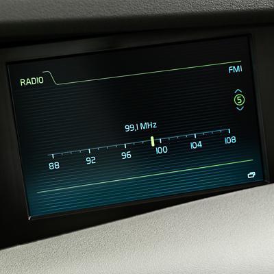 Pantalla del sistema de audio del Volvo FH