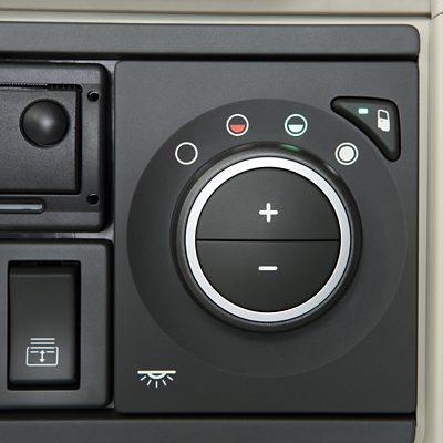 Control de clima de Volvo FH en el tablero