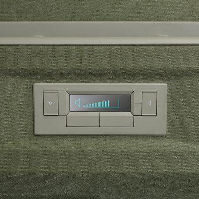 Panel de control de Volvo FH en el compartimiento de dormitorio
