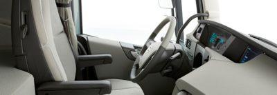 Vista interior de la nueva cabina del Volvo FH