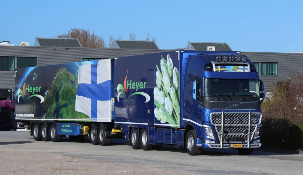 Heyer Blomstergrossisten gaat voor extra duurzaam én efficiënt met Volvo FH LNG én LZV