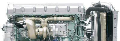 The D16 engine is available with up to 610 hp.