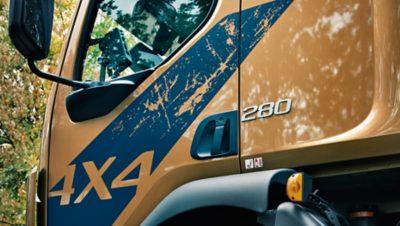 Volvo FL 4x4 sideview cab