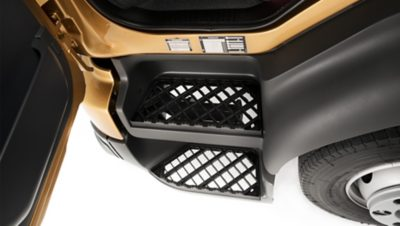 The Volvo FL entry steps features a slip-free coating