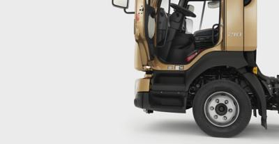Der Einstieg des Volvo FL wurde eigens für Fahrer im Verteilerverkehr konzipiert