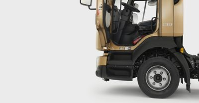 The Volvo FL entry step is perfectly designed for distribution drivers