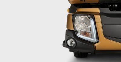 Moderne LED-Leuchten am Volvo FL