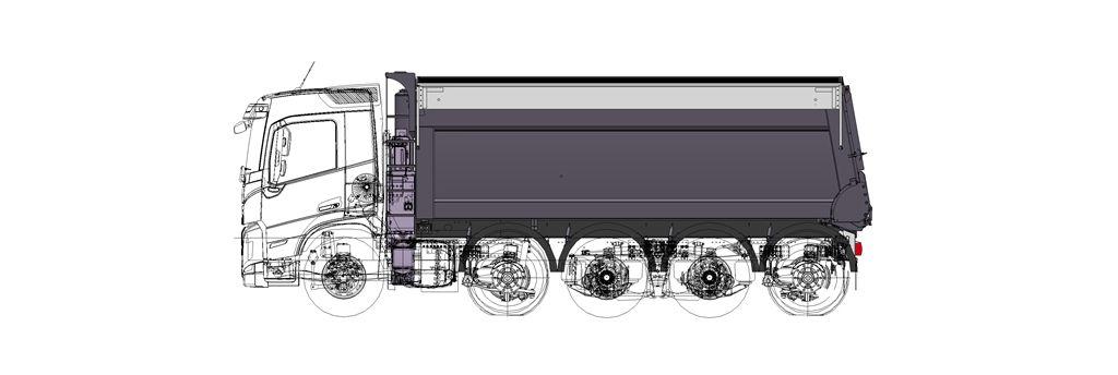 Korte Volvo FM 5-asser met hoog laadvermogen voor Millenaar & van Schaik Transport