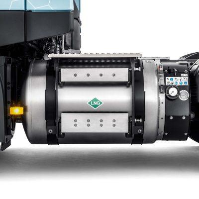 Volvo FM LNG har en räckvidd på upp till 1000 km.
