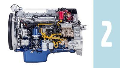 O novo motor G13C a gás