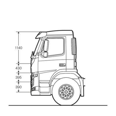 Cabina de día del Volvo FM con medidas