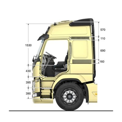 Volvo FM specifications globetrotter cab interior sideview