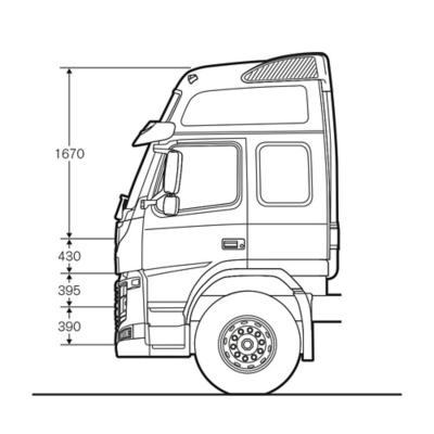 Cabina Globetrotter LXL del Volvo FM con medidas