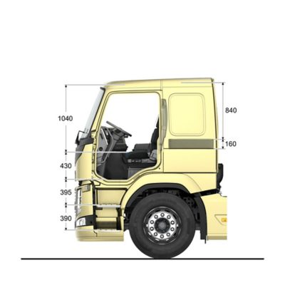 Volvo FM specifications low sleeper cab interior sideview