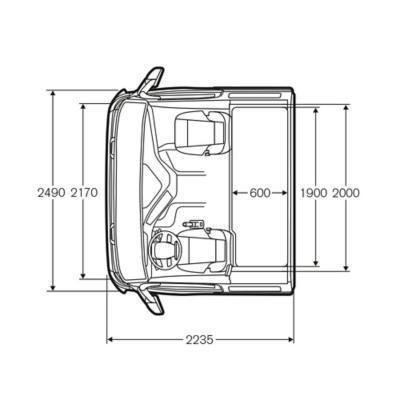 Volvo FM 臥舖型駕駛室尺寸大小