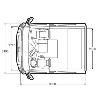 Volvo FMX specifications cab top view