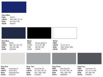 Volvo main colors