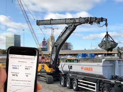 1600 færre lastebillass for NCC i Gøteborg med ny digital tjeneste fra Volvo