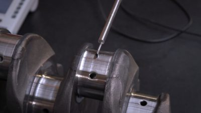 Close-up view of a Volvo Reman engine