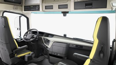 O interior do Volvo FH16 Classic.