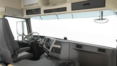 O interior do Volvo FM Classic.