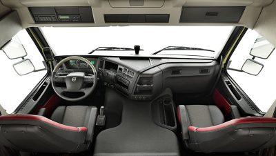 The Volvo FMX Classic interior.