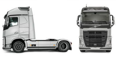 Fotografía de estudio del lado y el frente del embrague doble del Volvo FH 540
