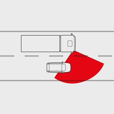 Cámara de curvas del Volvo FM