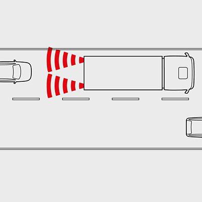 Luz do freio de emergência do Volvo FM