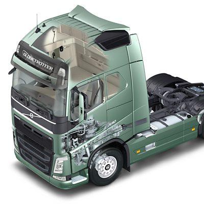 Cabina com absorção de energia da Volvo Trucks