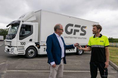 Remise des clés du Volvo FL électrique à GFS, Volvo Truck Center Cesson-Sévigné, le 23 juin 2021, Photo © Jean-Marie LIOT - www.jmliot.com