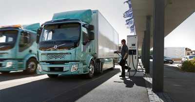 Volvo FL Electric at charging station